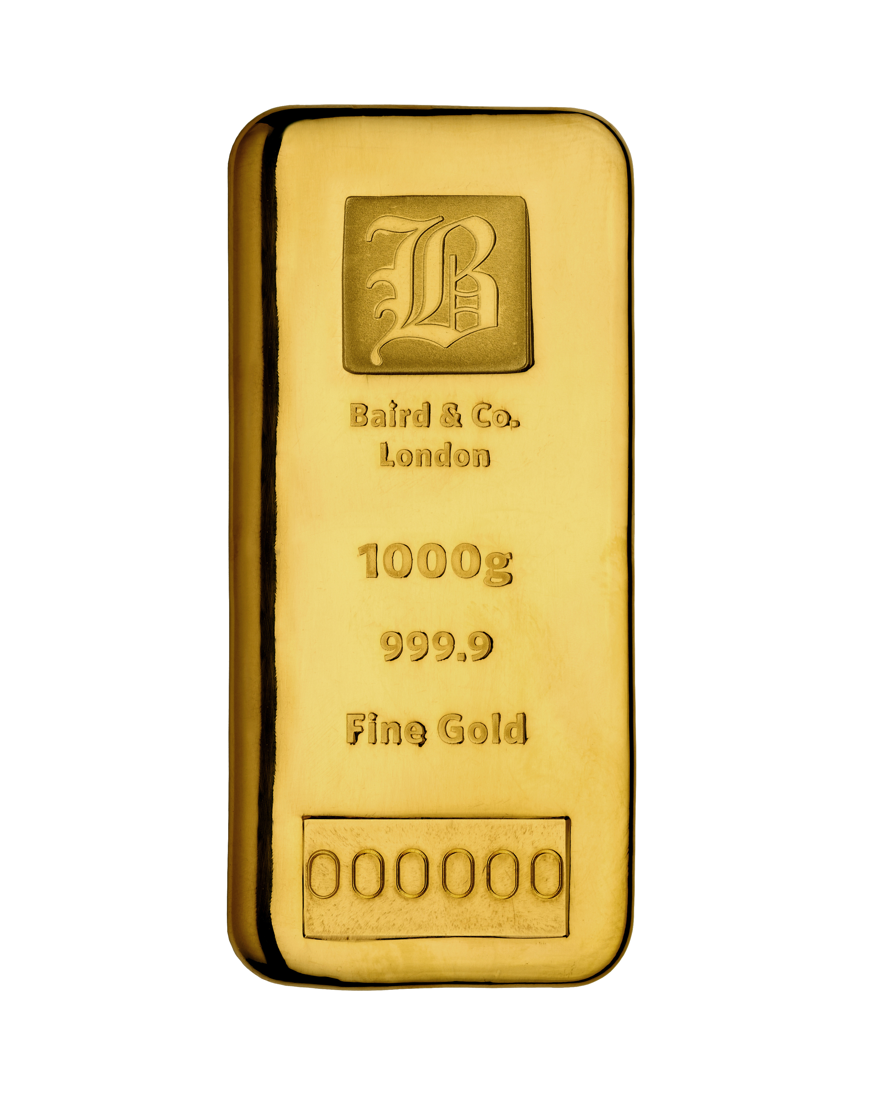 Gold Cast Bar 1000gr Baird Amp Co