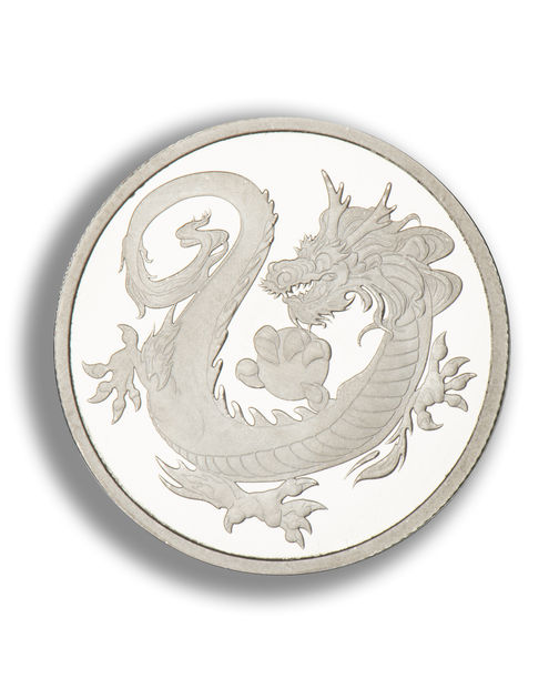 10 Oz Dragon Silver Coin