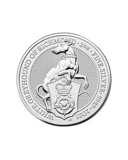 2021 Bullion Queens Beasts White Greyhound of Richmond Silver 2oz Coin.jpg